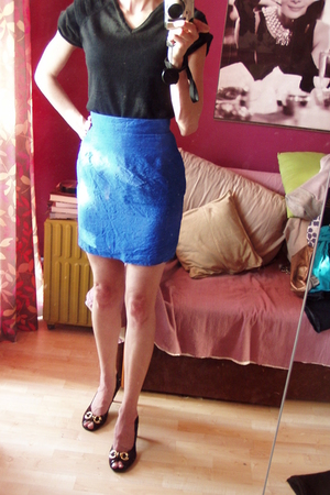 vintage skirt - Betty Jackson Studio top - Zara shoes