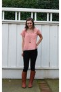 Leather-steve-madden-boots-black-hudson-jeans-peach-nordstrom-top