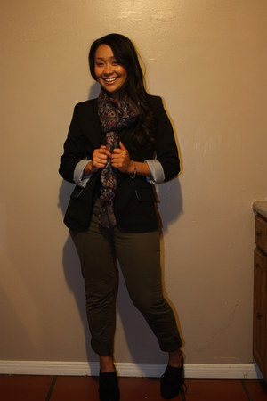 Forever 21 blazer - H&M scarf - Ross Brand Willow &Clay pants - Ross Brand Doll