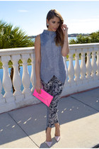 BCBG purse - Zamrie top - Zara pumps - Zara pants