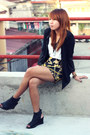 Thrifted-blazer-vneck-bench-shirt-parisian-wedges-from-dyms-skirt