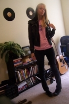 American Apparel shirt - delias jeans - Chuck Taylors shoes - jacket