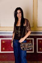Zara jacket - BLANCO top - Bershka jeans - SU-SHIcom purse - SU-SHIcom necklace