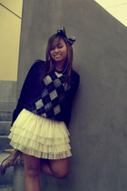 accessories - Target sweater - Forever 21 skirt - Target boots