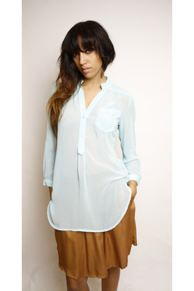 sky blue Swaychiccom blouse