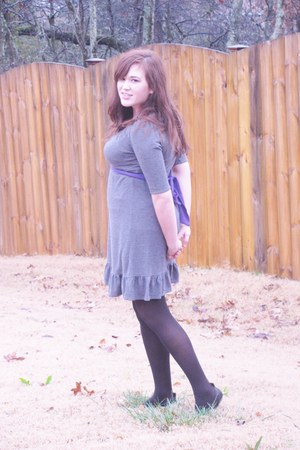 dress - tights - flats