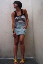 top - skirt - shoes - bracelet -