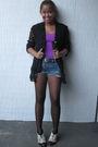 Purple-top-forever-21-shoes-topshop-tights-black-cote-d-azur-blazer