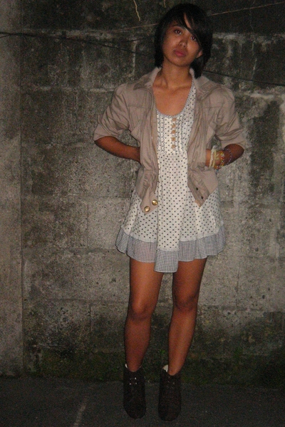 jacket - shirt - dress