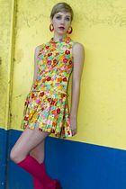 red Chinese Laundry shoes - yellow imagnin dress