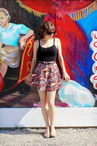 black comic print River Island skirt - black Lucky Brand sunglasses