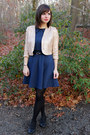 Navy-coincidence-chance-dress-gold-sequined-forever-21-jacket