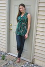 Green-karen-kane-blouse-silver-jeans-jeans-brown-charlotte-russe-shoes
