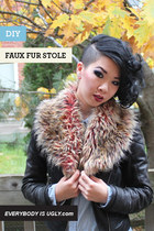 DIY FAUX FUR STOLE