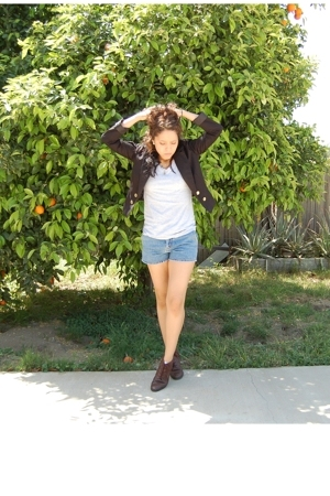 H&M blazer - Target t-shirt - calvin klein shorts - partners shoes