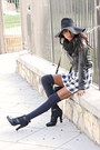Navy-plaid-vintage-dress