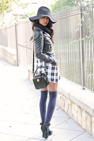 navy plaid vintage dress