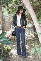 navy flare Lucky Brand jeans