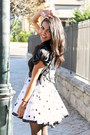 White-polka-dot-vintage-skirt