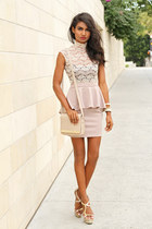 peach lace 2b bebe dress