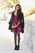 maroon floral Velvet Dress dress