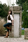 Brown-london-boots-beige-h-m-shirt-brown-h-m-vest