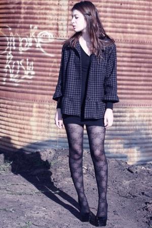 American Apparel dress - Target blazer - Bebe shoes - flyjanenet shoes - Urban O