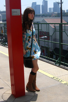 f21 dress - Gryson for Target purse - BCBG shoes - dads socks