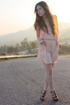 pink Quiksilver dress - green gojanecom shoes