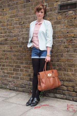 vintage Rokit jacket - Mulberry bag - vintage Rokit shorts - Topshop blouse - Ka