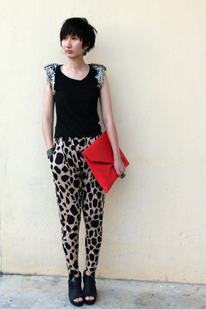 from Seoul bag - Millies wedges - from hong kong pants