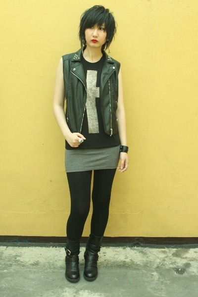 H&M vest - staccato boots - Forever 21 top