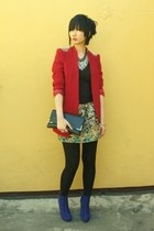 from hong kong blazer - Rubi On boots - from hong kong skirt - cotton on top