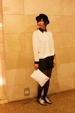Le Saunda shoes - H&M hat - from hong kong shirt - Zara bag - cotton on shorts
