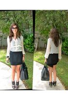 K Derby shirt - acne skirt - Topshop shoes