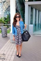 H&M dress - Repetto shoes - Comptoir de cottoniers jacket - hermes birkin bag