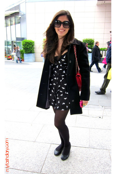 Repetto shoes - Wolford stockings - asos dress - Aquascutum coat - Chanel purse