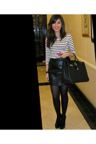 H&M top - YSL shoes - vintage skirt - hermes birkin purse