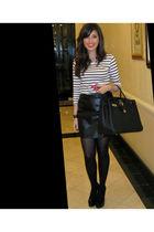 H&M top - YSL shoes - vintage skirt - hermes birkin purse