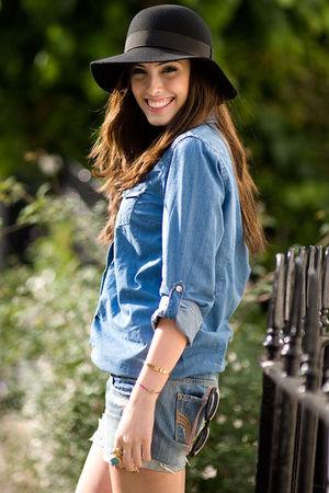 Topshop shirt - Sonia Rykiel hat - hollister shorts