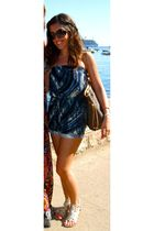 playsuit dress - Gladiator Sandals shoes - LV Neverfull accessories