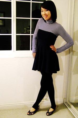 H&M shirt - American Apparel skirt - Express tights - Target shoes