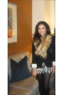 Banana-republic-blazer-h-m-scarf-chanel-bag-forever-21-shorts