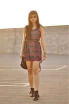 Audrey 31 dress - Mtng boots - botkier bag - Urban Outfitters sunglasses