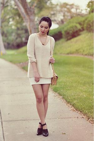 eggshell Tobi sweater - ivory Tobi skirt