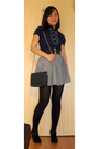 Blue-miss-selfridges-shirt-black-h-m-belt-silver-vintage-skirt-black-vincc