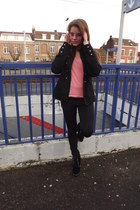 pink jennyfer sweatshirt - black Giorgia - Tip Top Fashion leggings