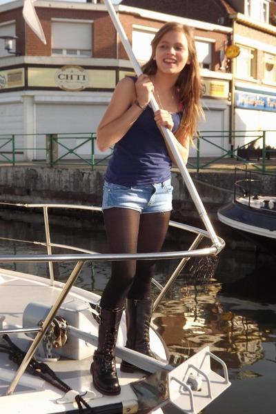 Combat Boots Ki T Toi Boots Ts Shirt Mim Shirts | u0026quot;Marina Yachtingu0026quot; by tanyafashion | Chictopia