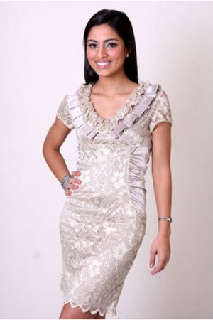 beige Cesova dress - black Cesova dress