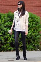 Mango jacket - Zara boots - Guess leggings - Zara t-shirt